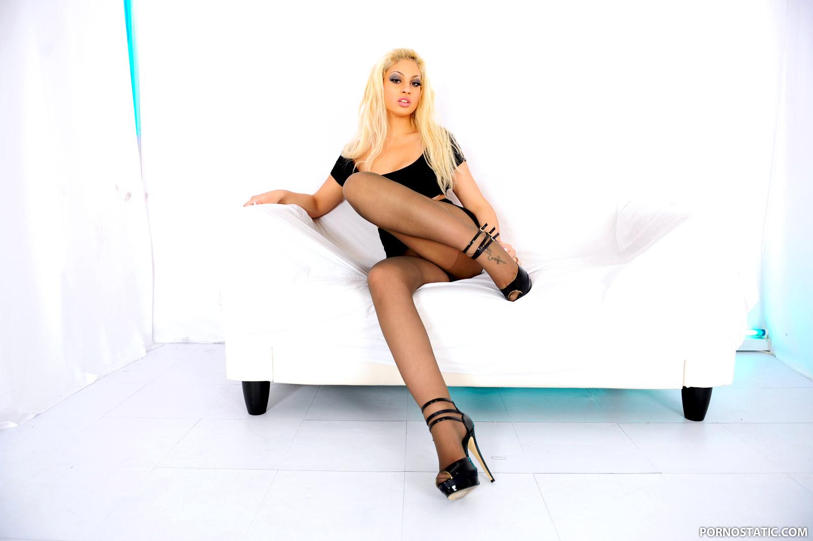 Katie Amari - Sheer Nylon Seduction